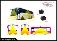 3D 360 Degree Surrounding Bird View Security System For Bus / Truck 4 Way Camera Recording