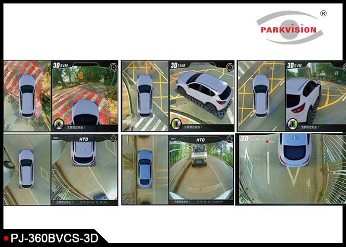 3D 360 Degree Surrounding Bird View Security System 4 Way Camera Recording for Parking Driving